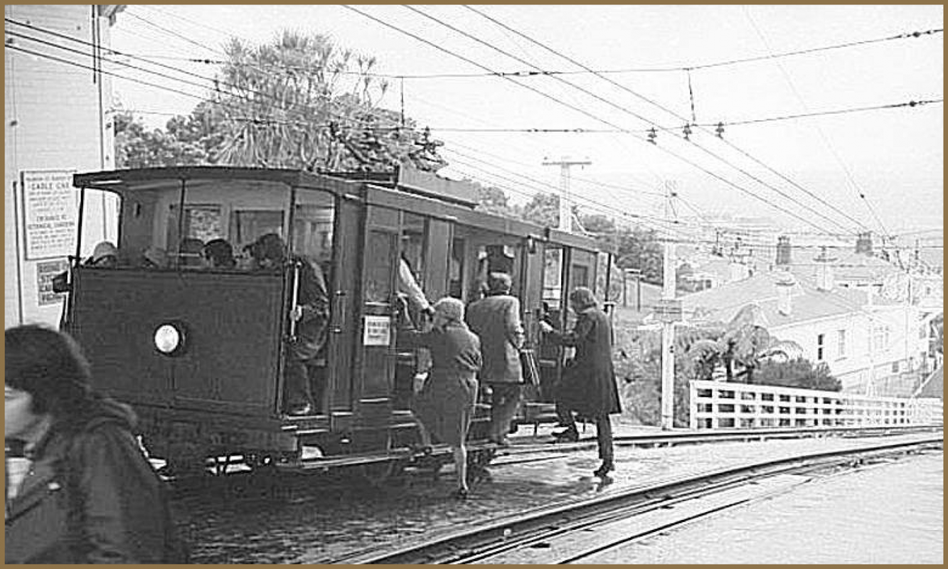 Cable Car at Kelburn 1974